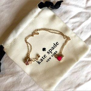 Kate Spade Pink Enamel Heart Mini Pendant